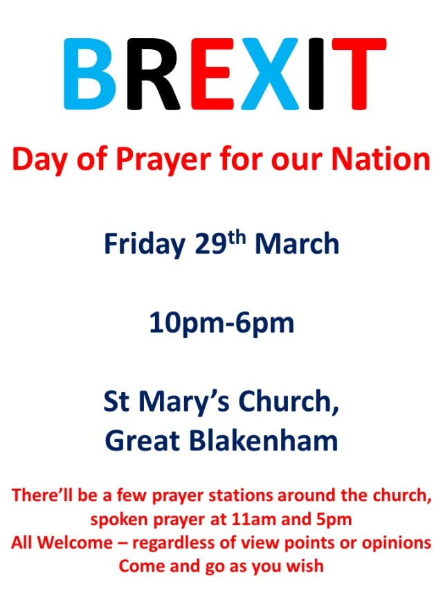 brexit day of prayer