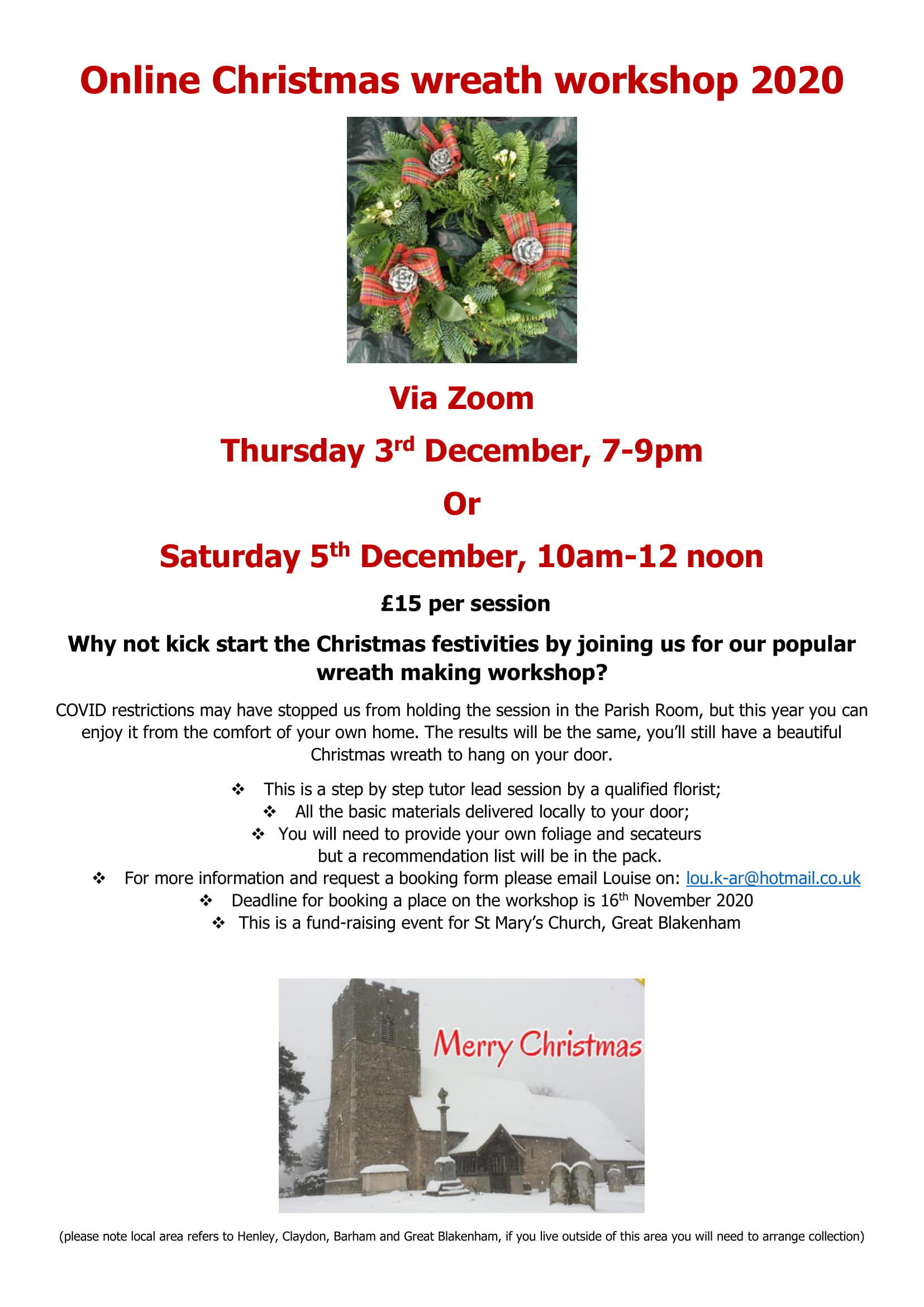 Christmas wreath workshop poster 2020-1